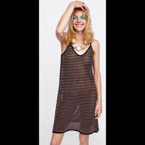 ZARA l Top with Wavy Two-Tone Stripes